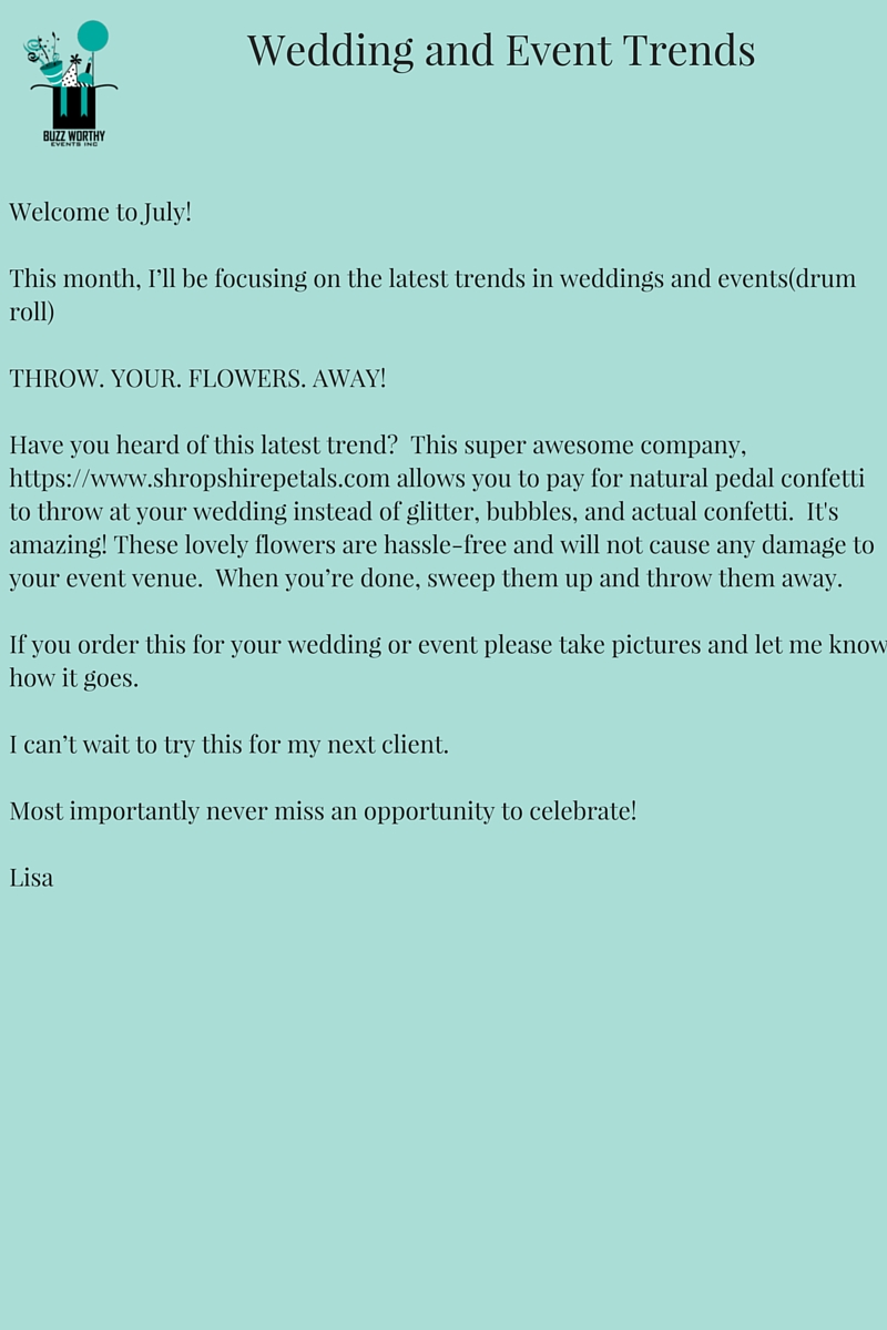 Wedding and Event Trends