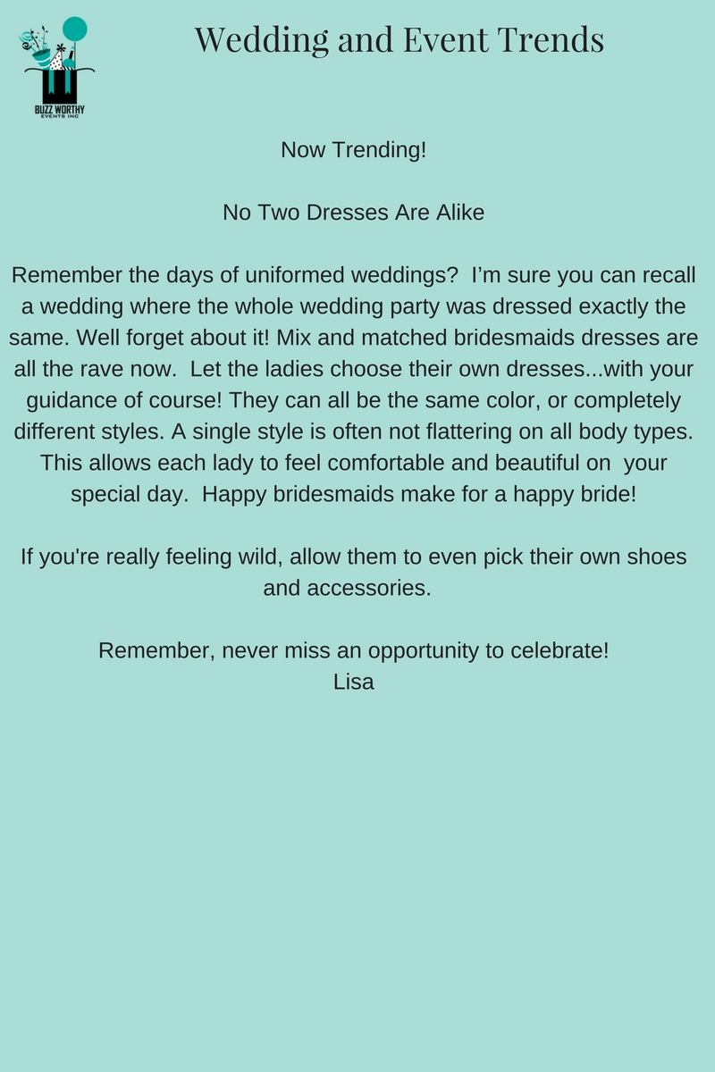 No Two Dresses Are Alike